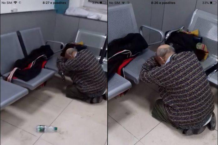 Gjendje e rëndë e një të moshuari që rënkon nga dhimbjet, mjekët në grevë