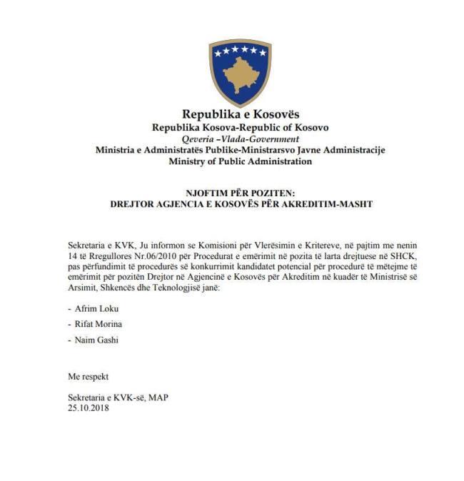 Qe katër muaj Afrim Loku pret të bëhet drejtor në Agjencinë