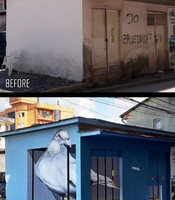 Vizatime të pabesueshme 3D në Ferizaj