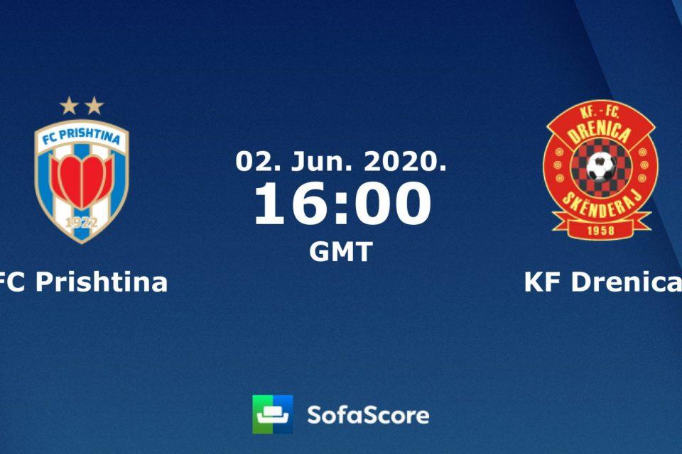 Formacionet zyrtare: FC Prishtina – FC Drenica