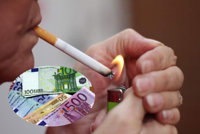 Për 10 muaj, kosovarët dogjën rreth 50 milionë euro në duhan