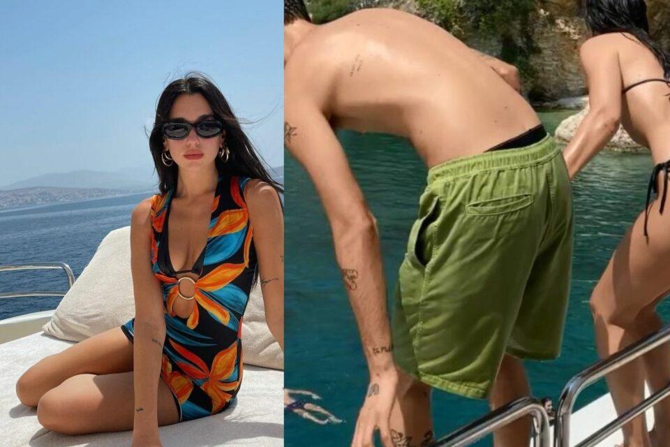 """""""A po na inçizon"""", kaq ëmbël flet në shqip Dua Lipa teksa hidhet në det me të dashurin"""